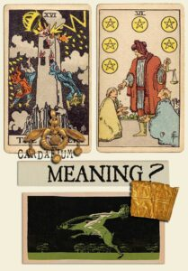The Tower and Six Of Pentacles