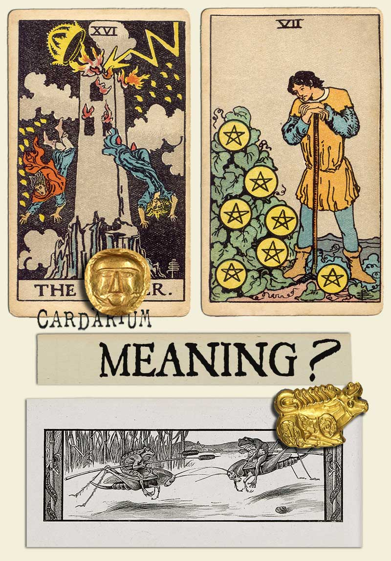 The Tower and Seven Of Pentacles