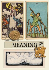 The Tower and Seven Of Wands