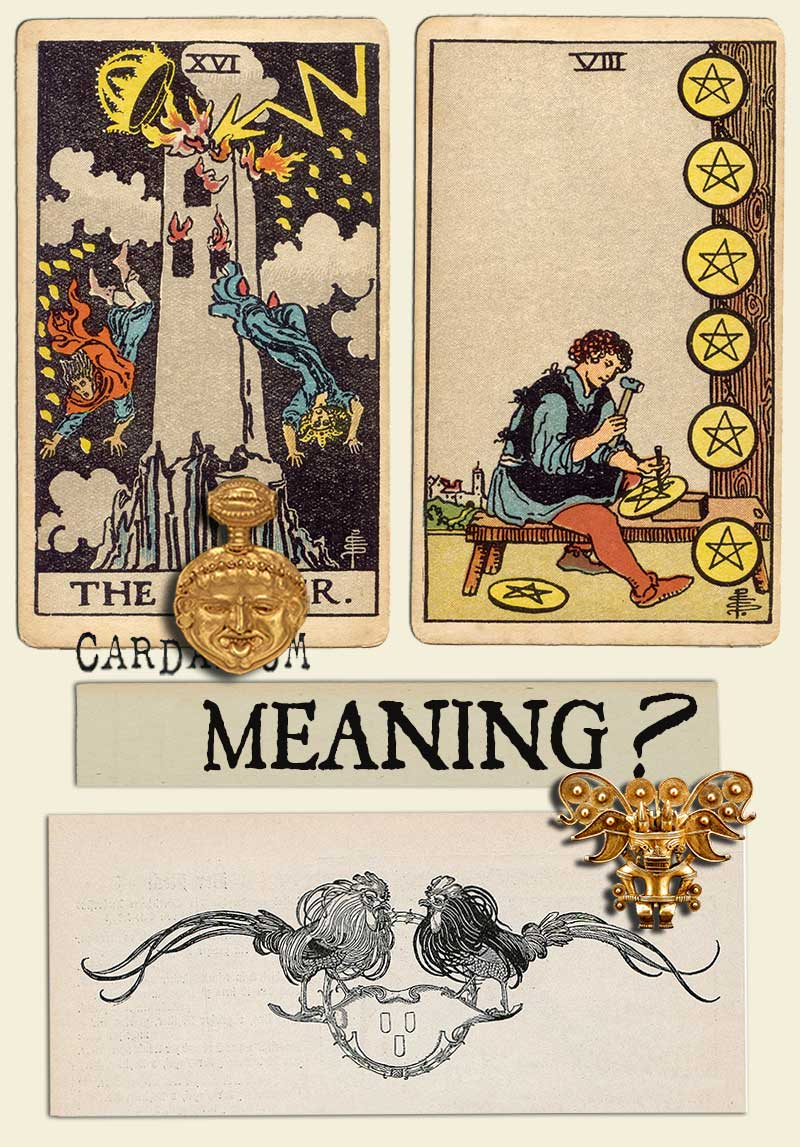 The Tower and Eight Of Pentacles