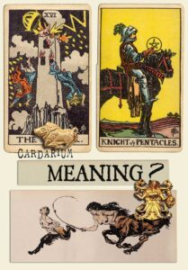 The Tower and Knight Of Pentacles