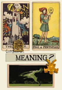 The Tower and Page Of Pentacles