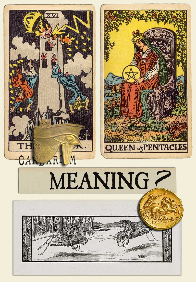 The Tower and Queen Of Pentacles