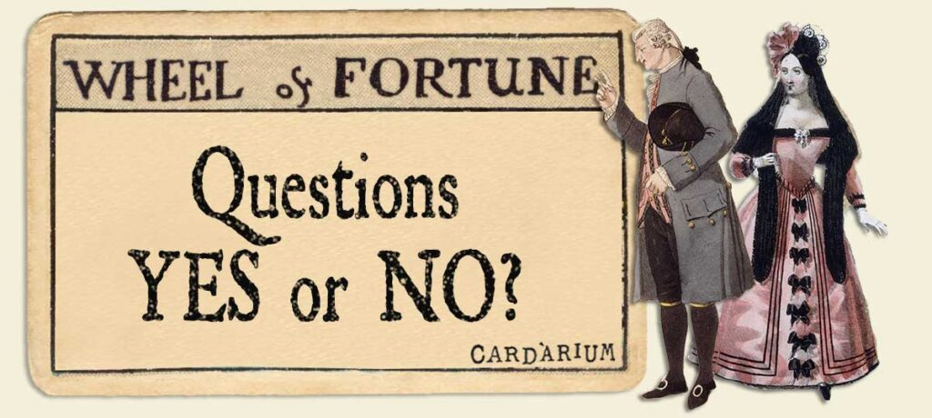 Wheel of Fortune Yes or No Questions
