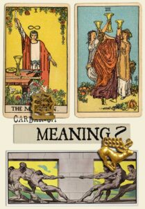 The Magician and Three Of Cups