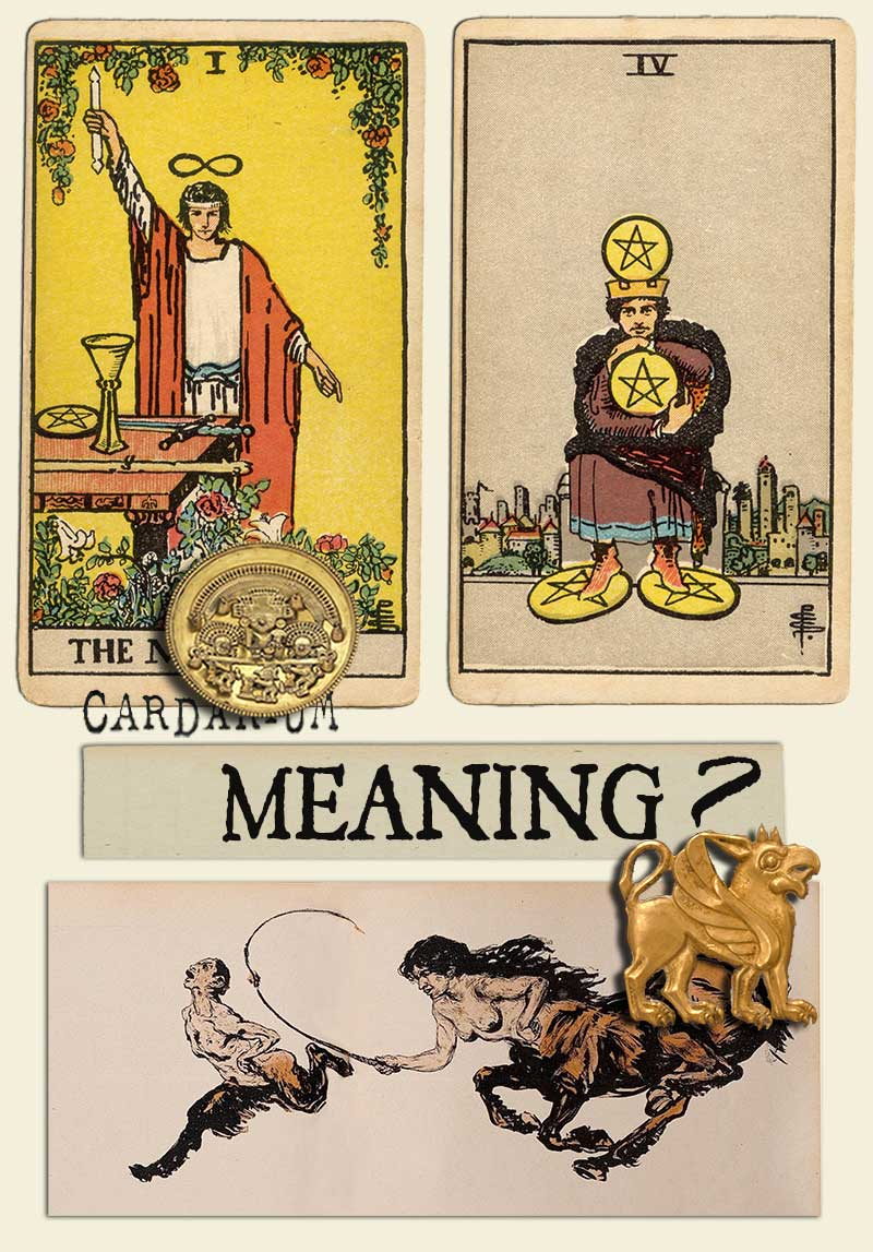 The Magician and Four Of Pentacles