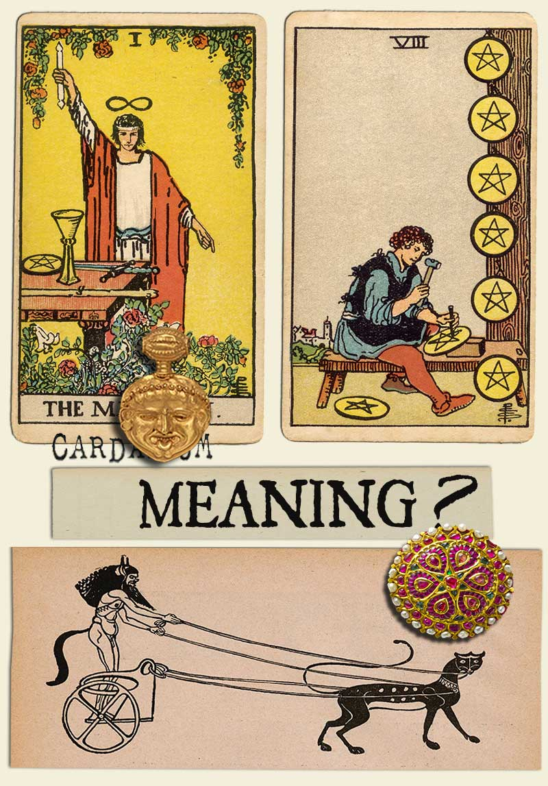 The Magician and Eight Of Pentacles