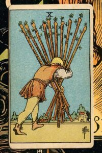 Read more about the article 10  of Wands: Detailed Meanings For Every Situation