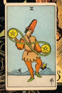 Read more about the article 2 of Pentacles: Detailed Meanings For Every Situation