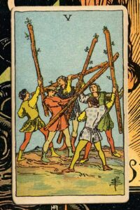 Read more about the article 5 of Wands: Detailed Meanings For Every Situation