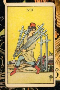 Read more about the article 7 of Swords: Detailed Meanings For Every Situation