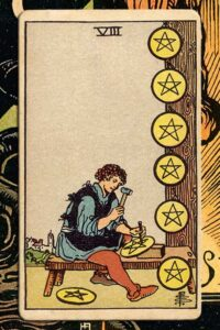 Read more about the article 8 of Pentacles: Detailed Meanings For Every Situation