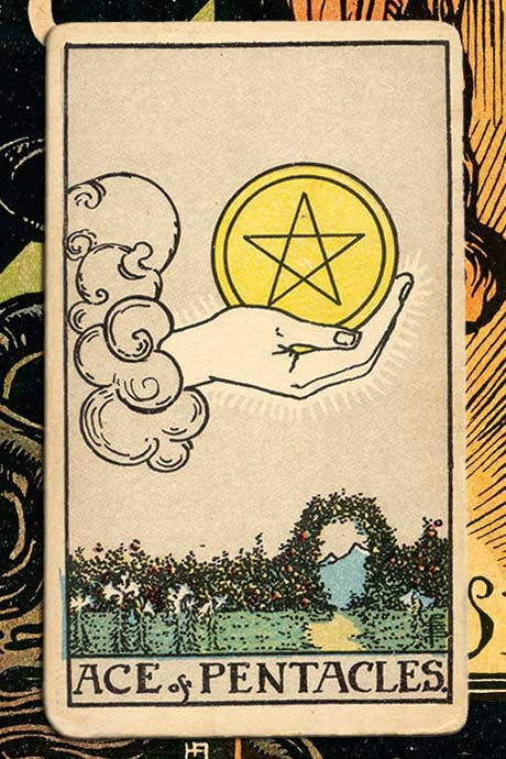 Main cover image Ace of Pentacles