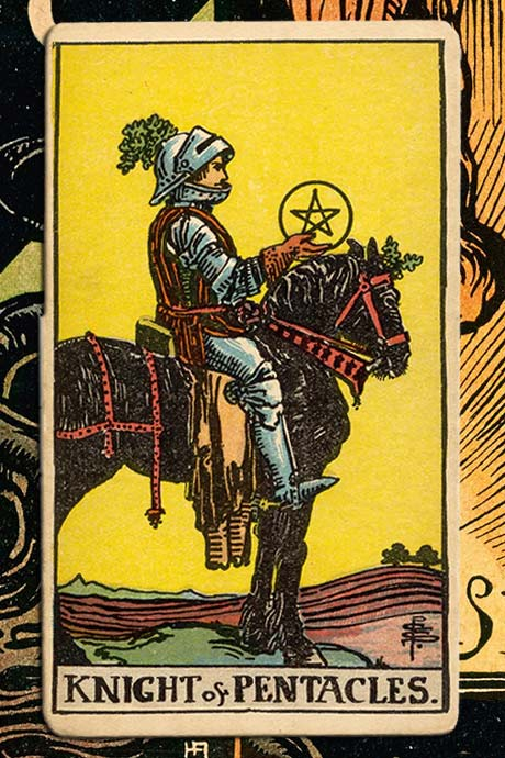 Main cover image Knight of Pentacles