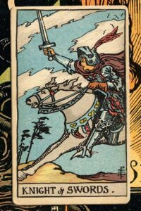 Read more about the article Knight of Swords: Detailed Meanings For Every Situation