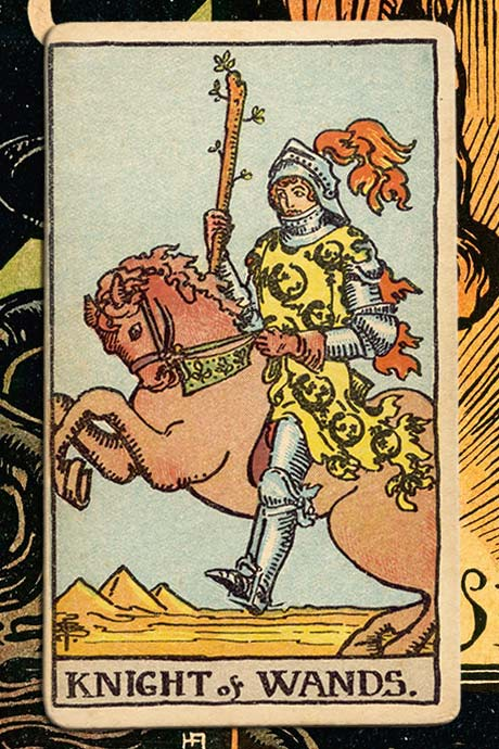 Main cover image Knight of Wands