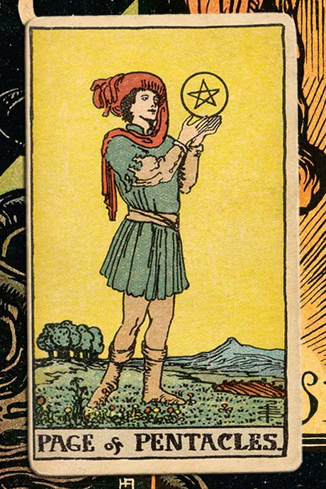 Main cover image Page of Pentacles