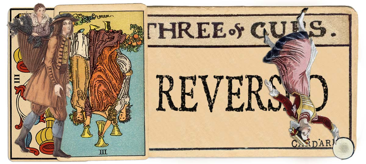 3 of cups reversed main meaning