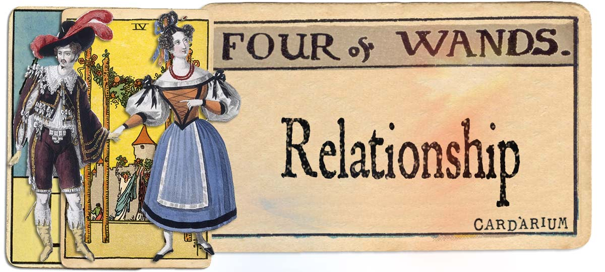 4 of wands meaning for relationship