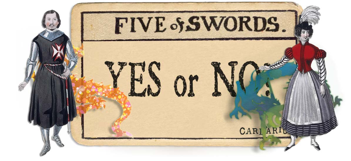 5 of swords card yes or no main
