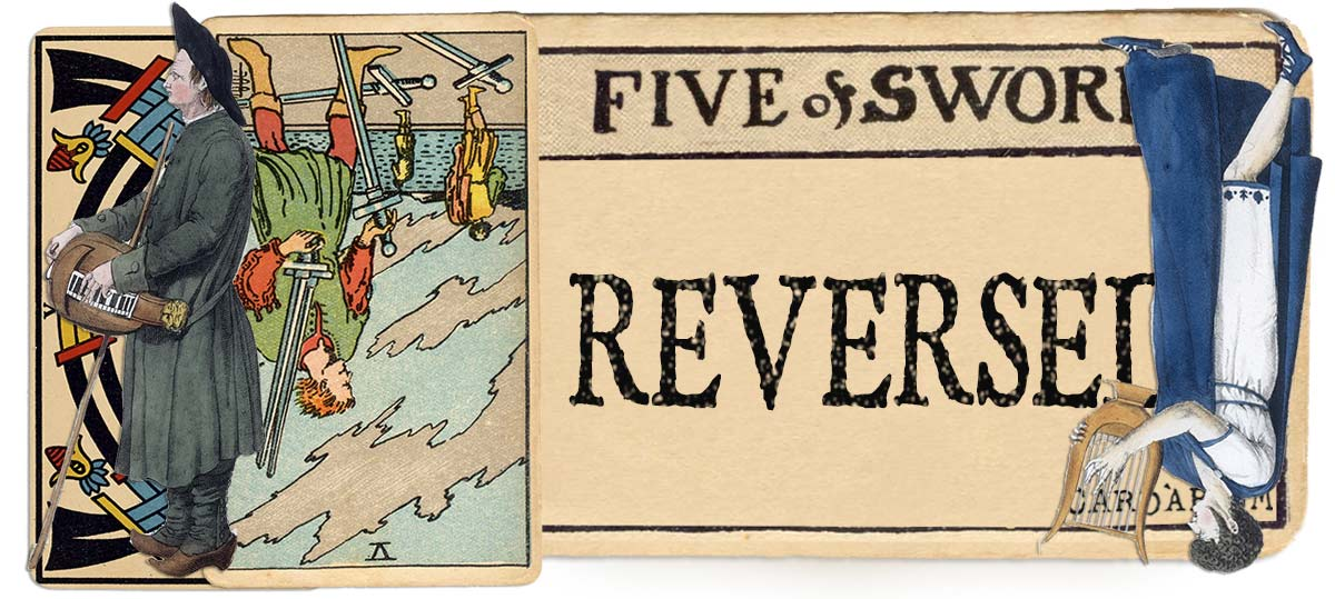 5 of swords reversed main meaning