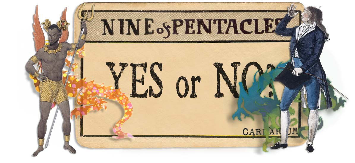 9 of pentacles card yes or no main