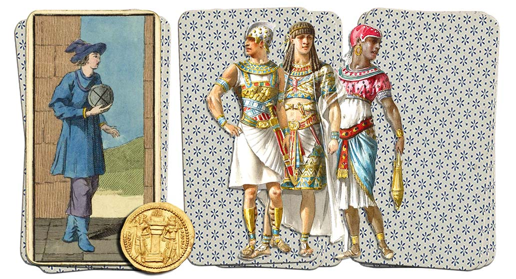 Egyptian Grand Etteilla Tarot Page of coins