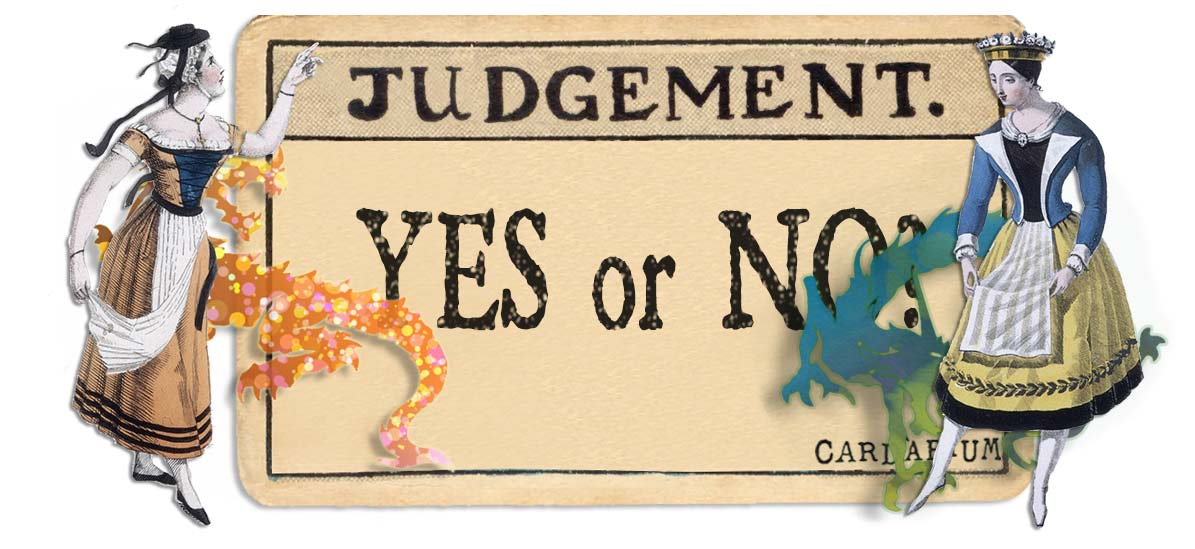 Judgement card yes or no main