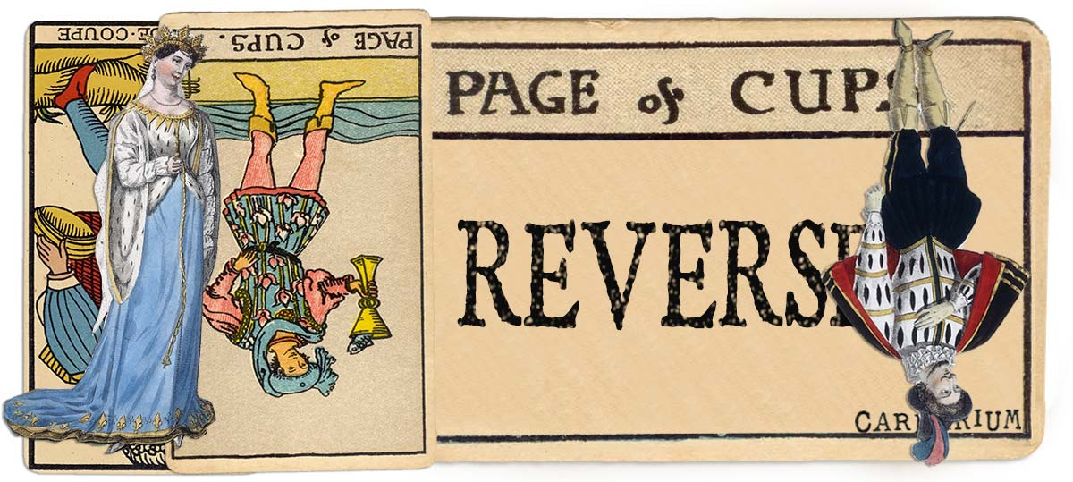 Page of cups reversed main meaning