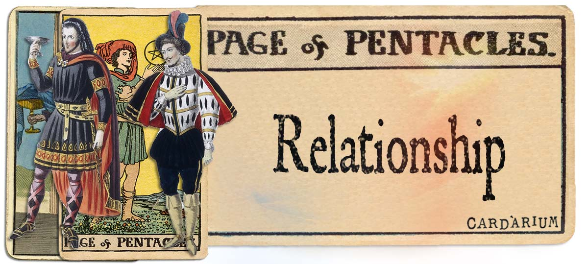 Page of pentacles meaning for relationship