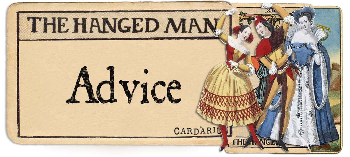 The Hanged Man tarot card advice main