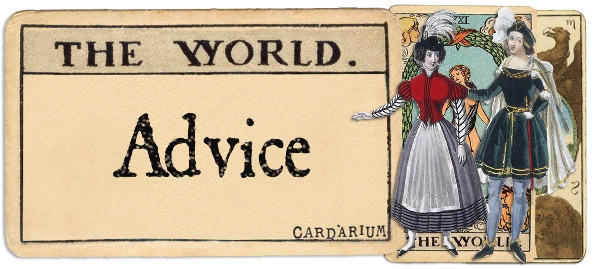 The World tarot card advice main