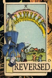 Read more about the article Reversed Ten of Cups Meanings