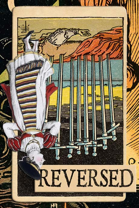 You are currently viewing Reversed Ten of Swords Meanings