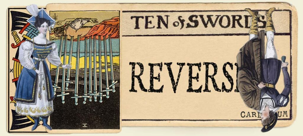 Reversed 10 of swords main section