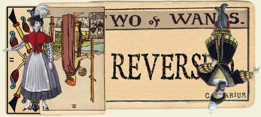 Reversed 2 of wands main section