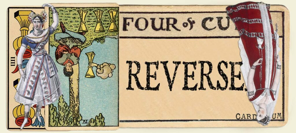 Reversed 4 of cups main section