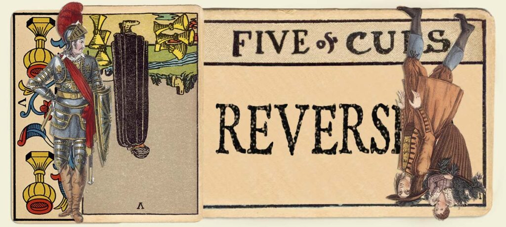 Reversed 5 of cups main section