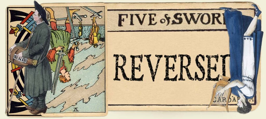 Reversed 5 of swords main section