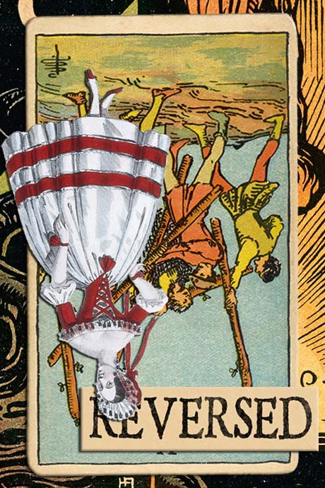 You are currently viewing Reversed Five of Wands Meanings