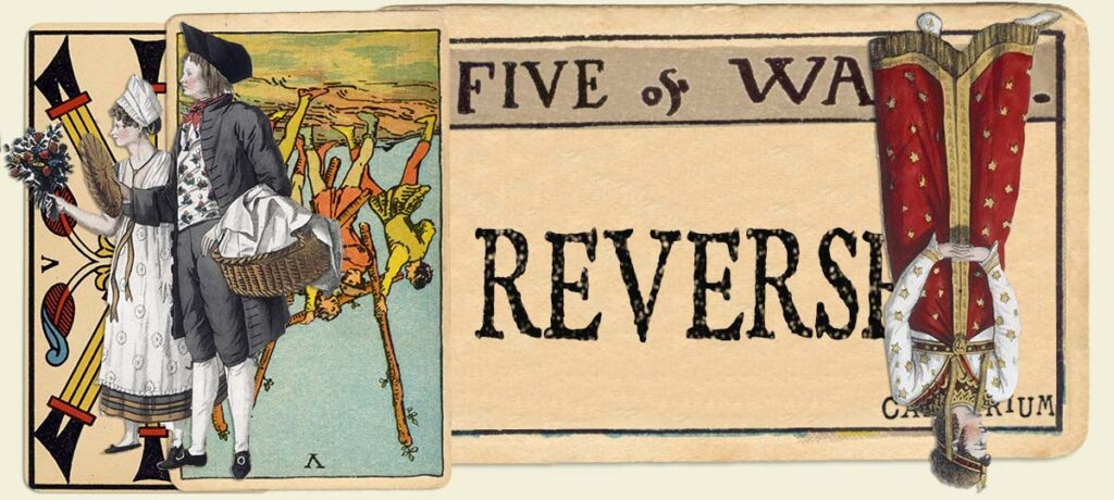 Reversed 5 of wands main section