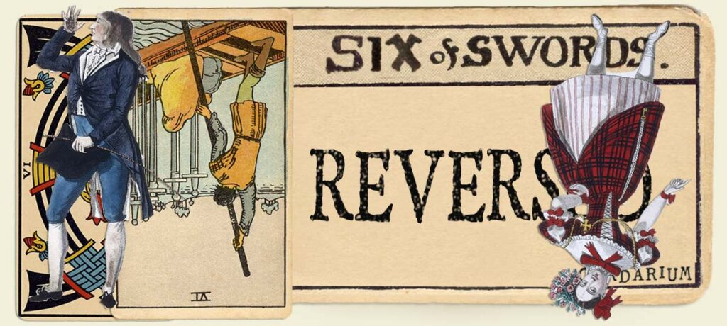 Reversed 6 of swords main section