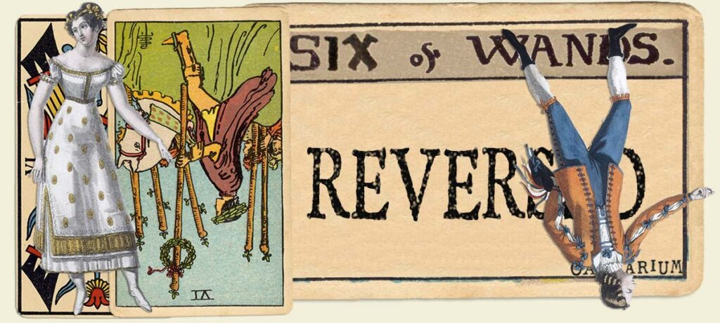 Reversed 6 of wands main section