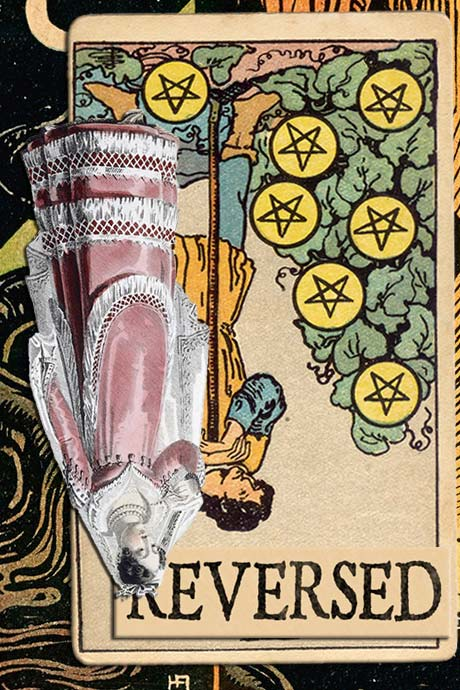 You are currently viewing Reversed Seven of Pentacles Meanings