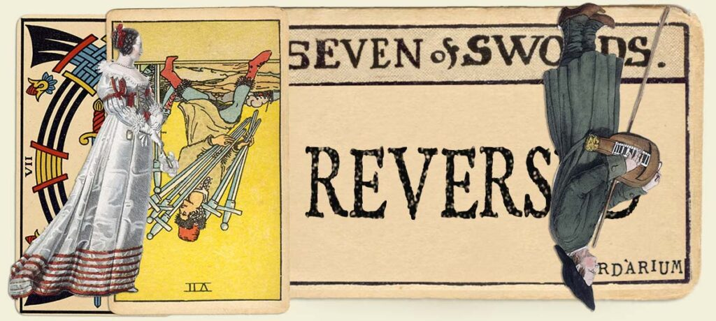 Reversed 7 of swords main section