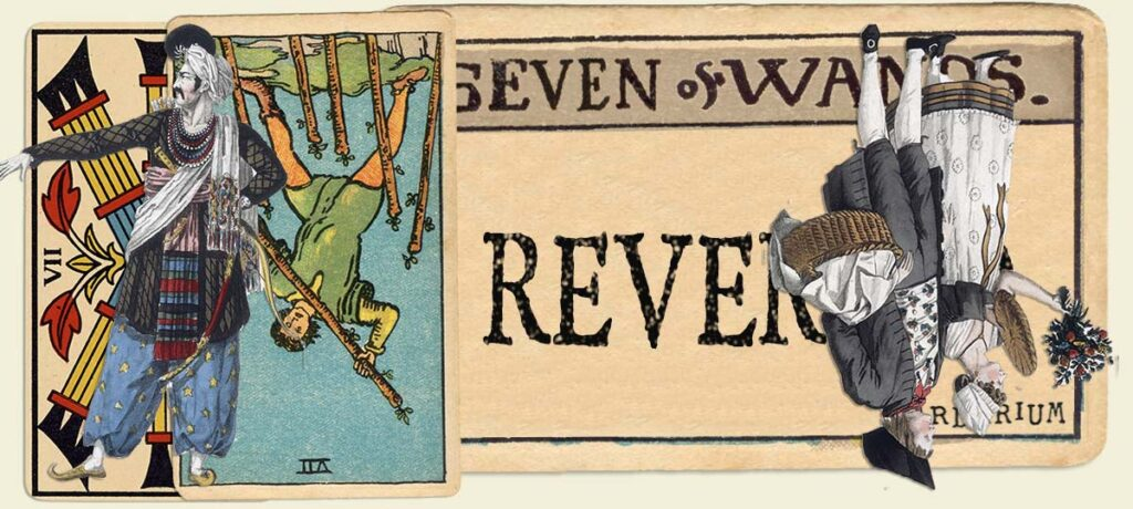 Reversed 7 of wands main section