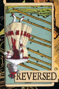 Read more about the article Reversed Eight of Wands Meanings