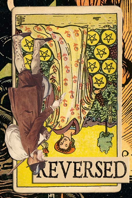 You are currently viewing Reversed Nine of Pentacles Meanings