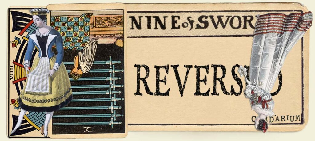 Reversed 9 of swords main section