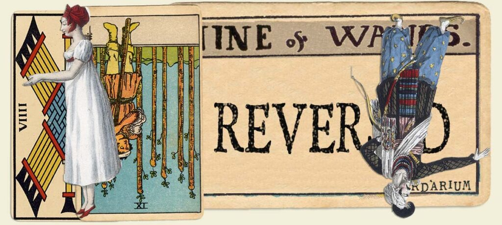 Reversed 9 of wands main section